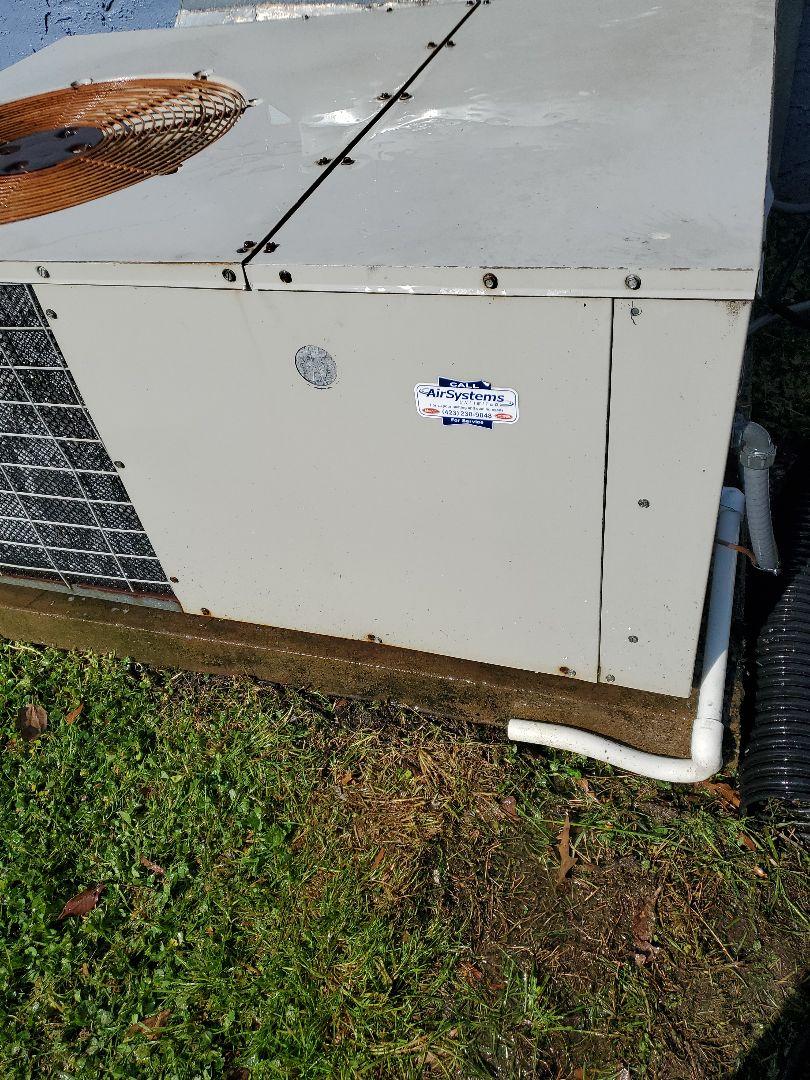 Maintenance call. Performed maintenance on Frigidaire package heat pump.
