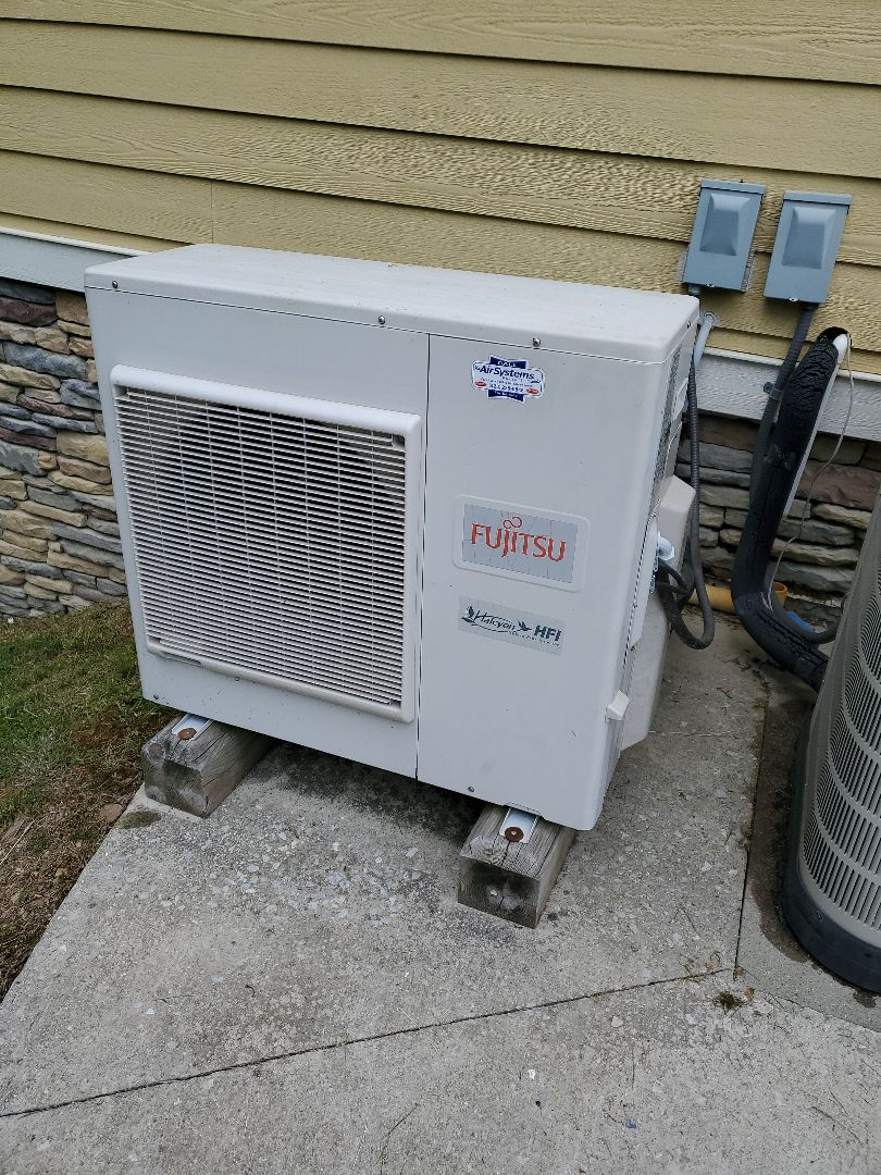 McDonald, TN - Service call. Performed repair on Fujitsu heat pump.