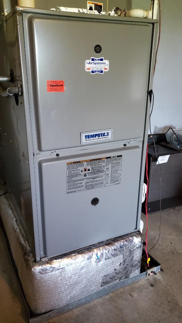 Soddy-Daisy, TN - AC maintenance call. Performed service on Tempstar units