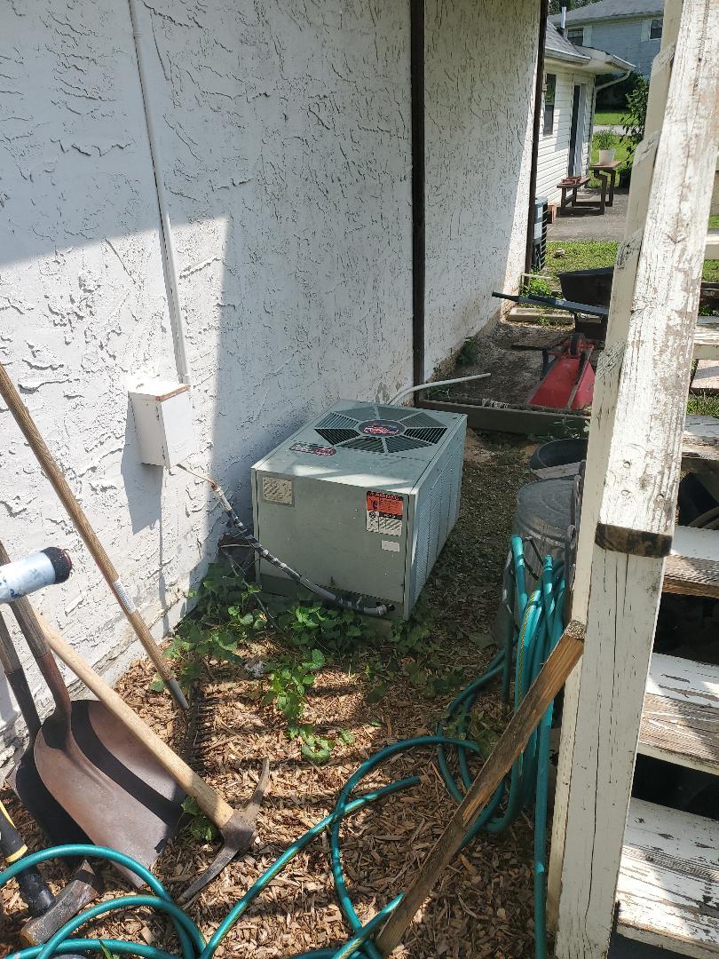 McDonald, TN - Service call.  Performed repair on Rheem air conditioner