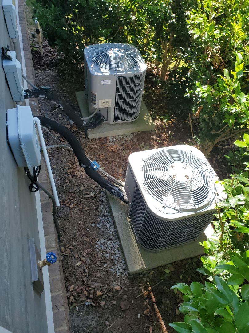 McDonald, TN - Installation. Install of new American Standard 2.5 ton split heat pump system