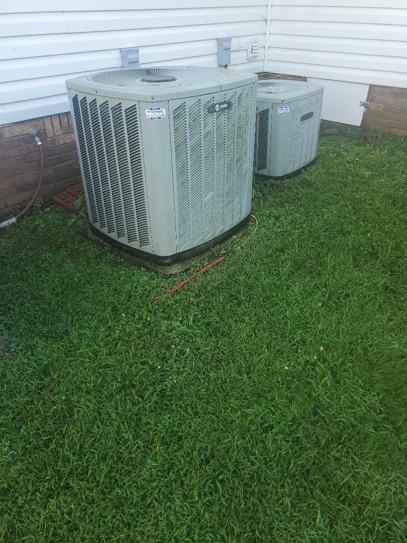Cleveland, TN - Service call. Performed service on two Trane air conditioners