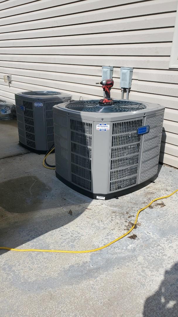 Cleveland, TN - AC changeout. Installed new American Standard heat pump split system