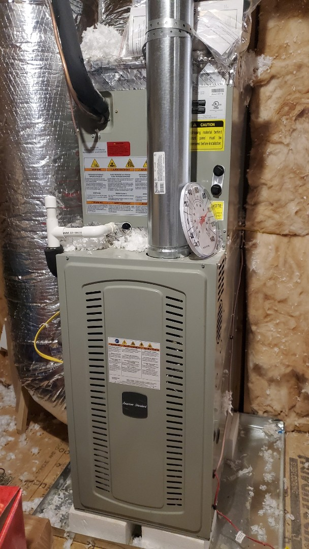 Apison, TN - Heat service call. Performed repair on American Standard gas furnaces