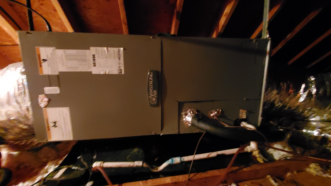 Cleveland, TN - AC service call. Performed repair on Armstrong unit