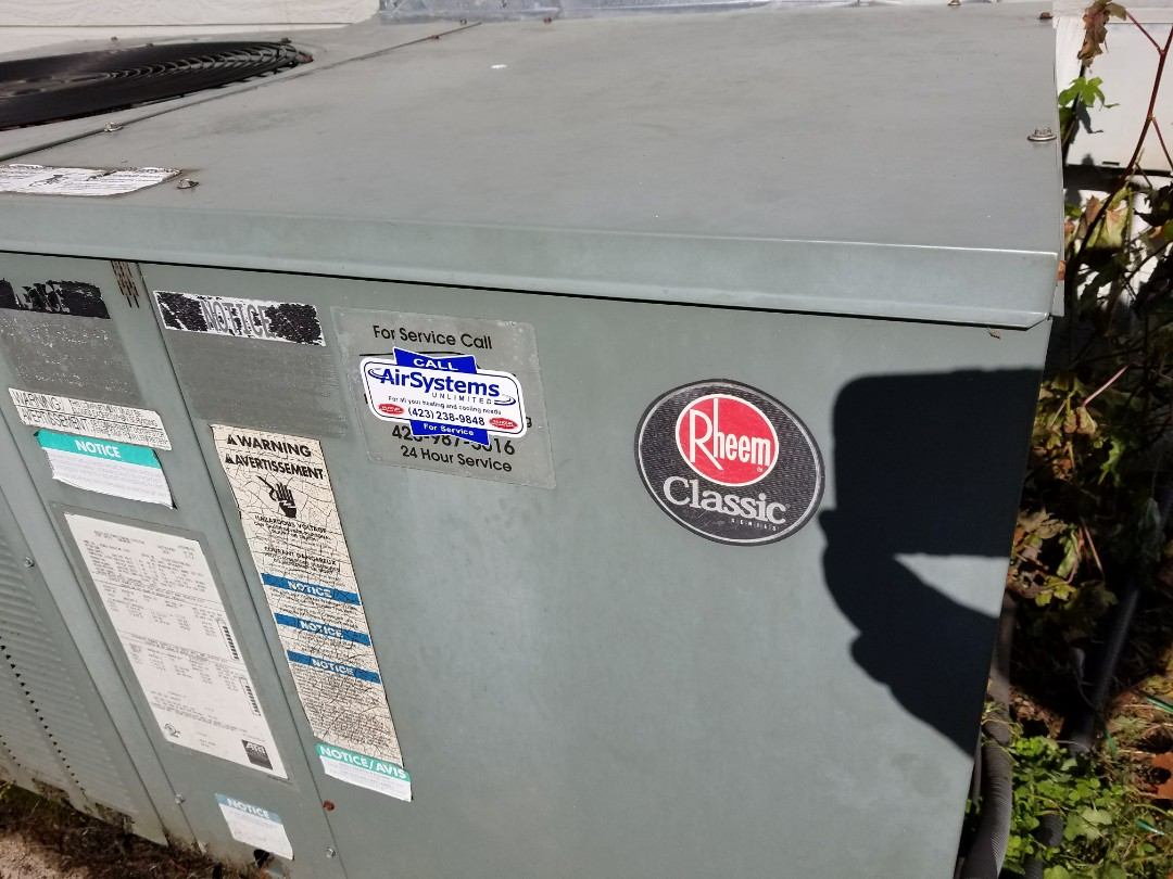 Cleveland, TN - Service call. Performed repair on Rheem package heat pump