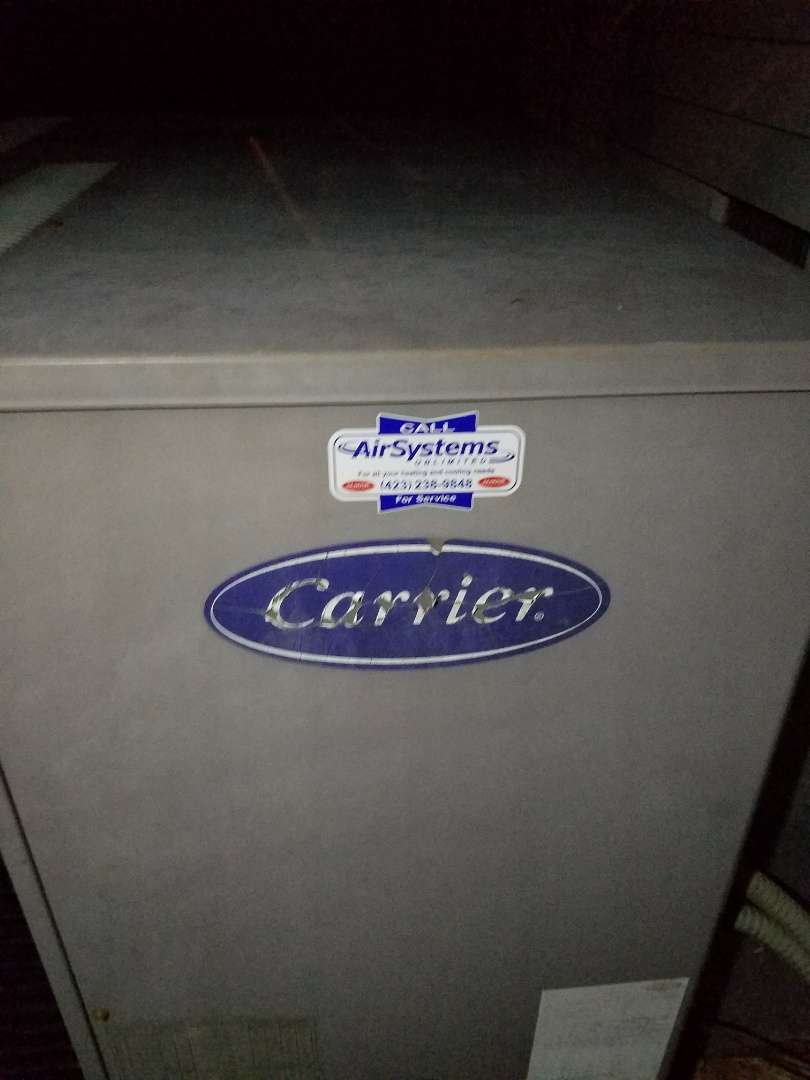 Cleveland, TN - Service call. Performed repair on Carrier Heat Pump HVAC System
