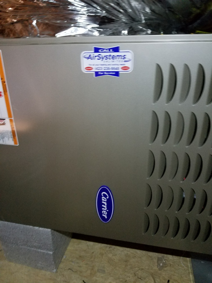 Ooltewah, TN - Install call. Performed install of New Carrier Furnace and HVAC System