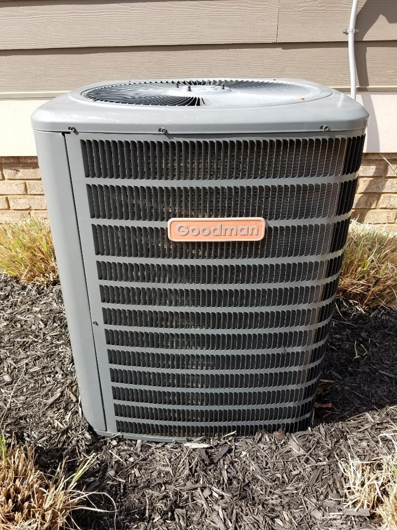 Ooltewah, TN - Service call. Performed repair on Goodman Heat Pump HVAC System