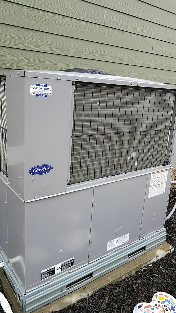 Ooltewah, TN - Preventive maintenance. Performed maintenance on Carrier furnace.