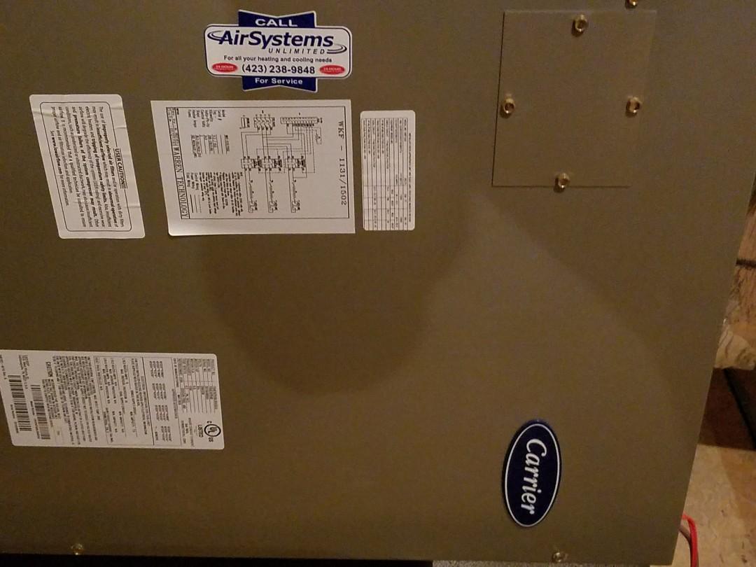 Signal Mountain, TN - Service call. Performed Air Balance on Carrier Heat Pump HVAC System