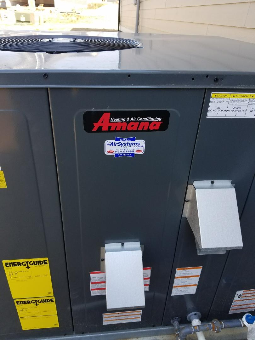 Ooltewah, TN - Service call. Performed repair Amana HVAC System