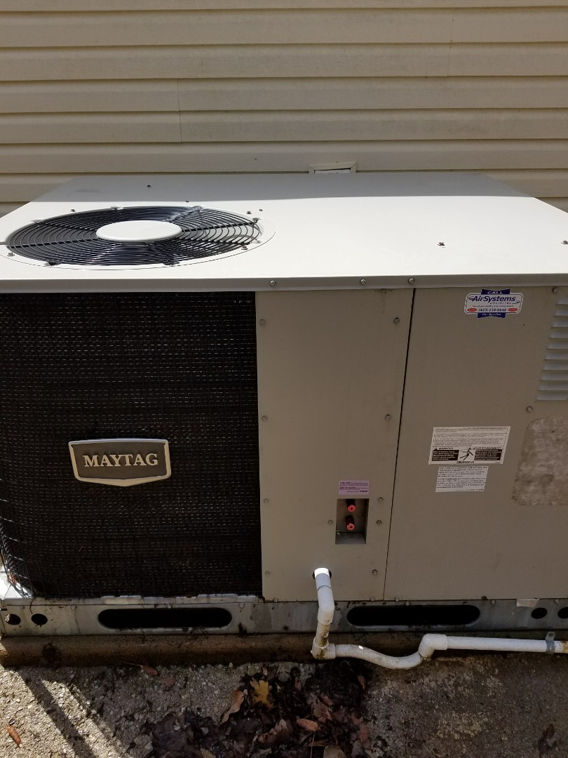 Chattanooga, TN - Maintenance Call. Performed tune up on Maytag HVAC System