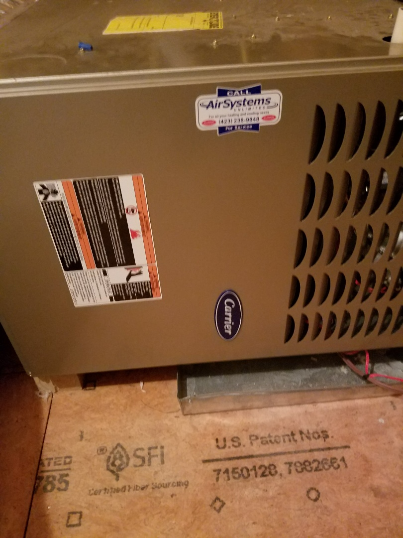 Chattanooga, TN - Maintenance Call. Performed tune up on Carrier HVAC System