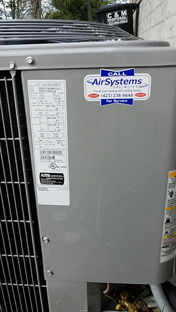 Ooltewah, TN - Service call. Performed repair on Carrier Heat Pump HVAC System