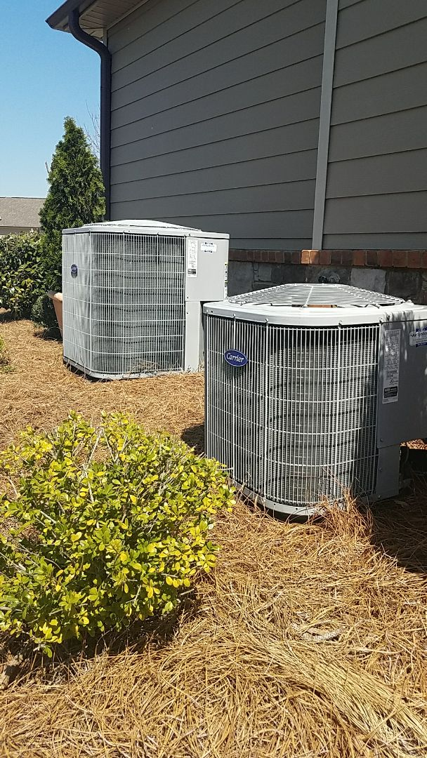 Ooltewah, TN - Preventive maintenance. Performed maintenance on carrier heating and air systems.