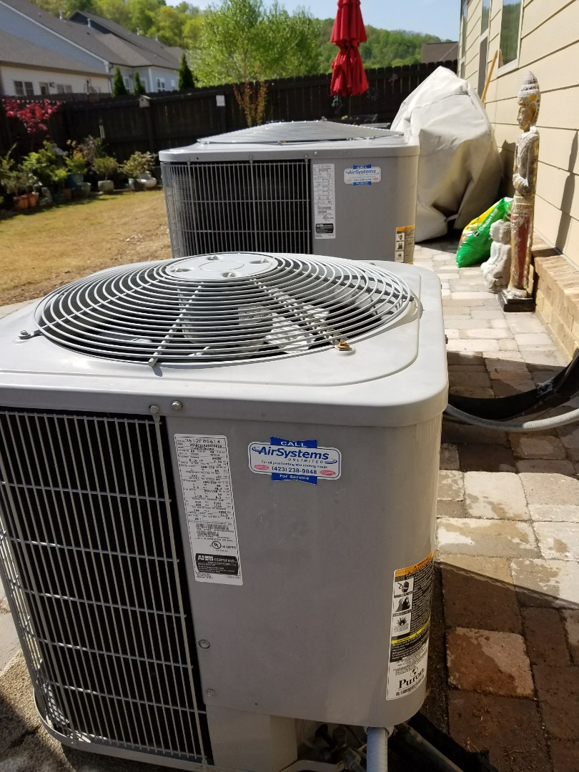 Chattanooga, TN - Maintenance Call. Performed tune up on Two Carrier Heat Pumps