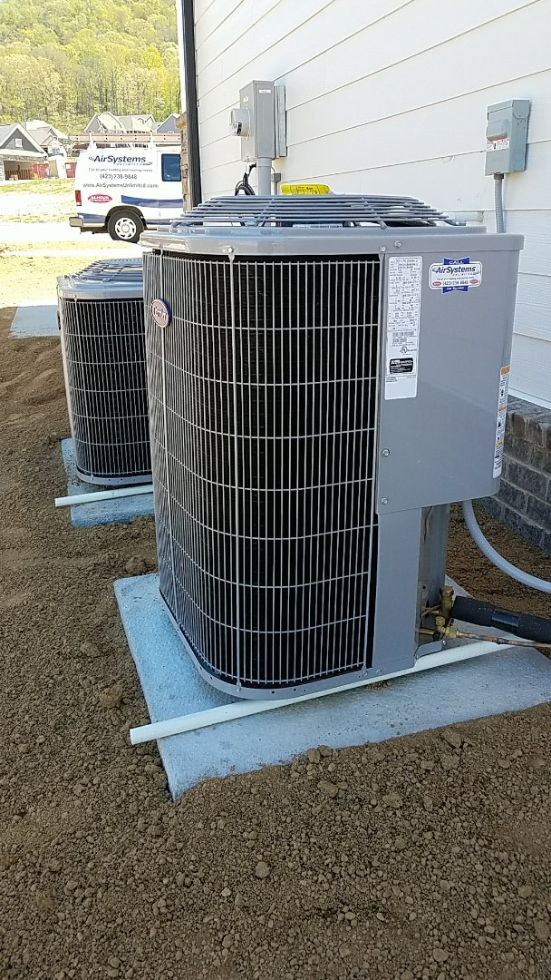 Cleveland, TN - Install. Installation of carrier heat pump systems.