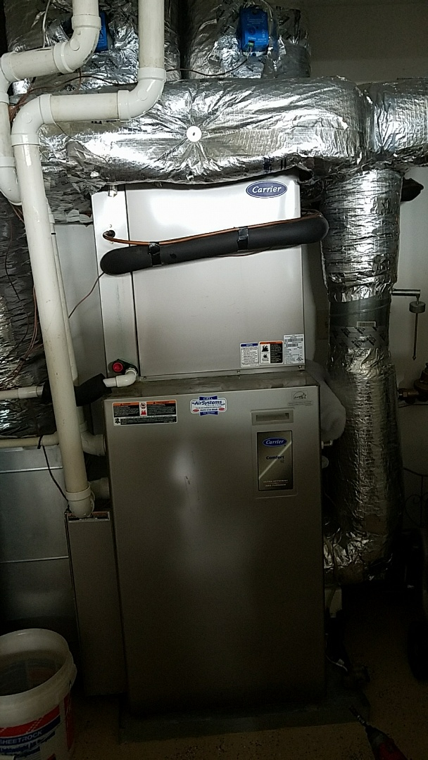 Chattanooga, TN - Maintenance Call. Performed tune up on Carrier Furnace and AC zoned system