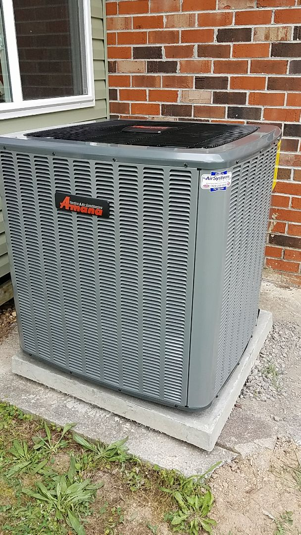 Birchwood, TN - Installation call. Performed install of 16 SEER Amana Heat Pump