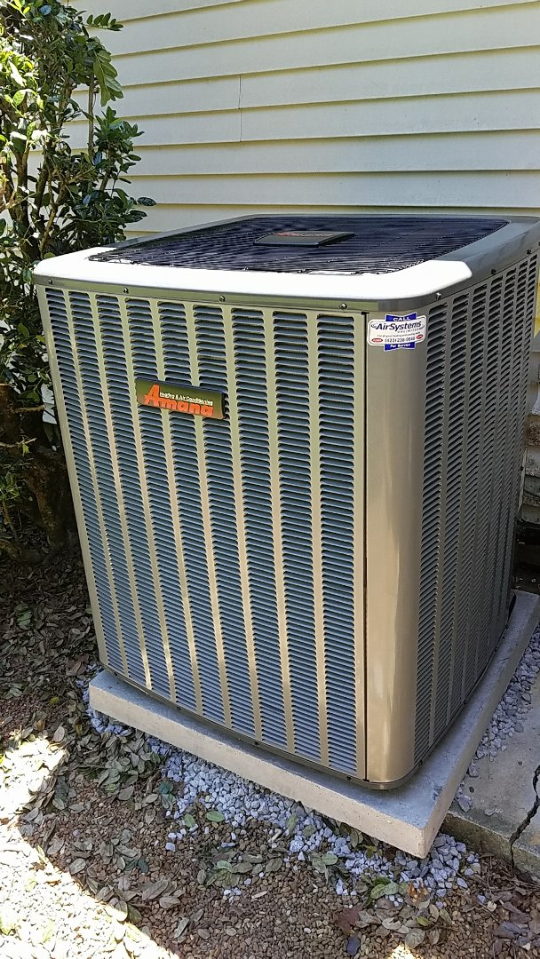 McDonald, TN - Installation call. Performed install on New Amana 16 SEER heat pump