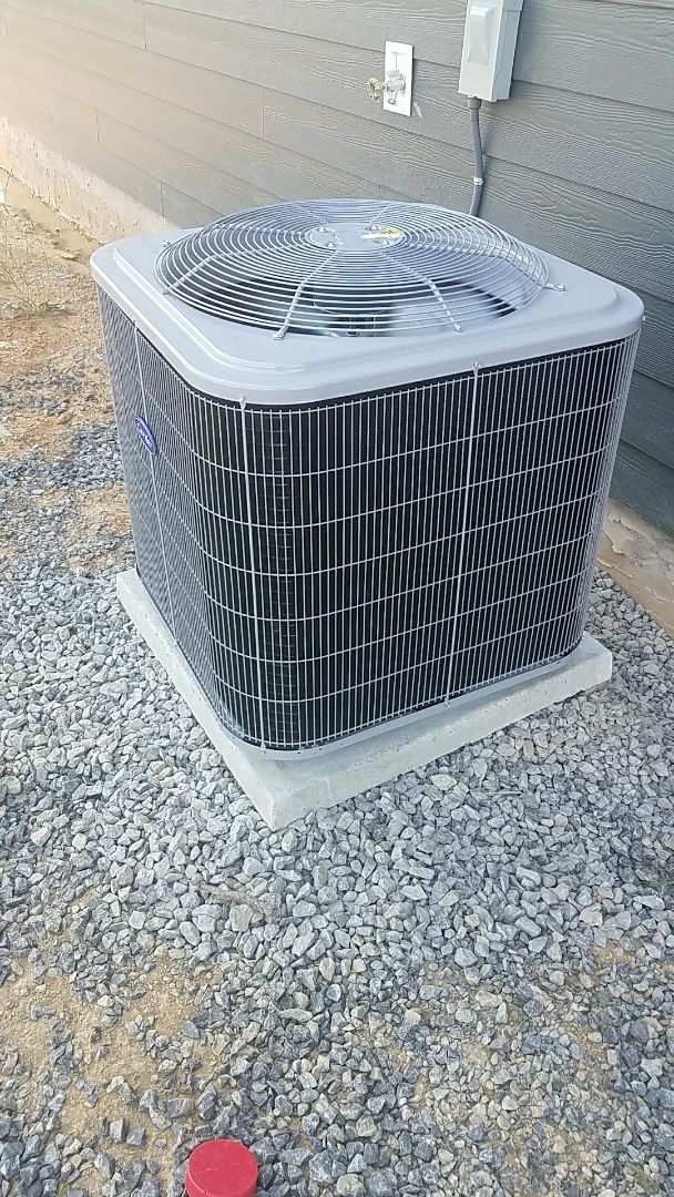 Cleveland, TN - Installation. Performed installation of carrier heating and air systems