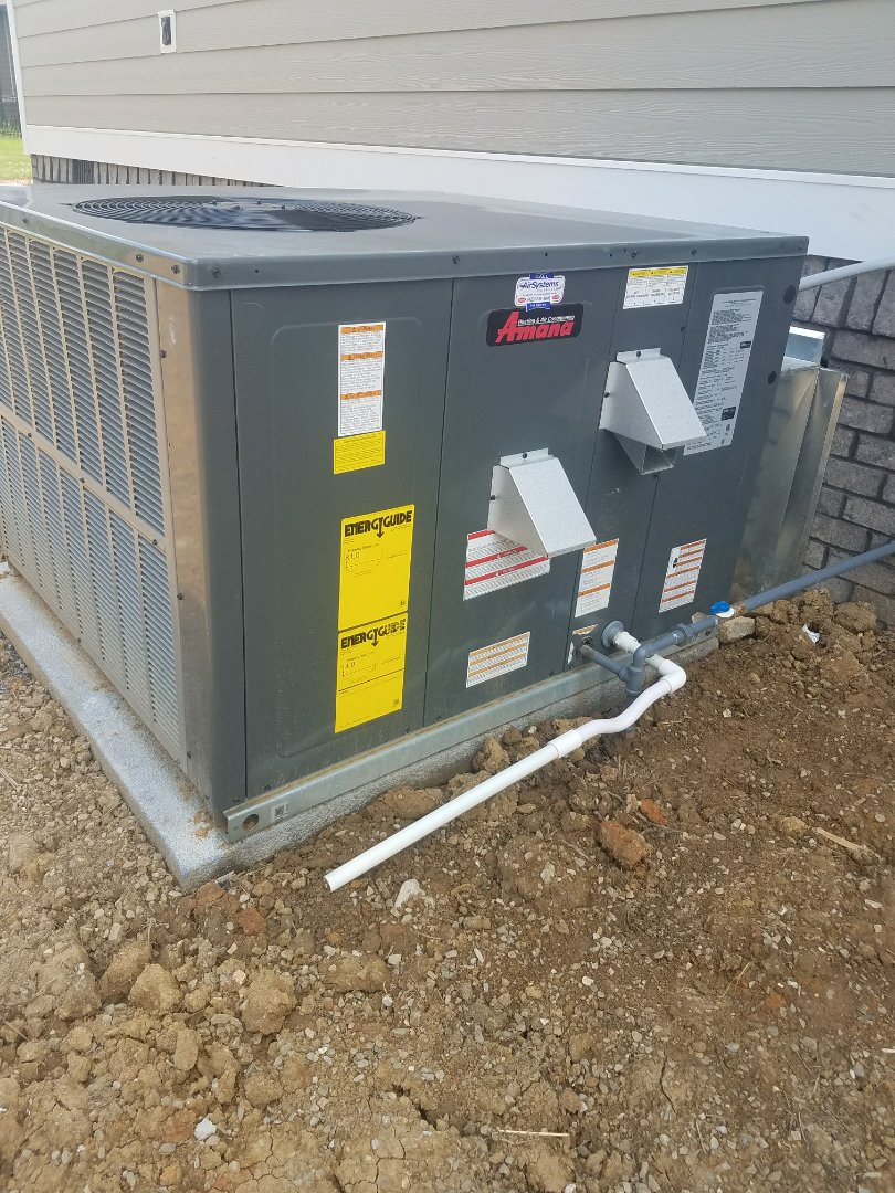 Ooltewah, TN - Installation. Performed installation of Amana gas package system.