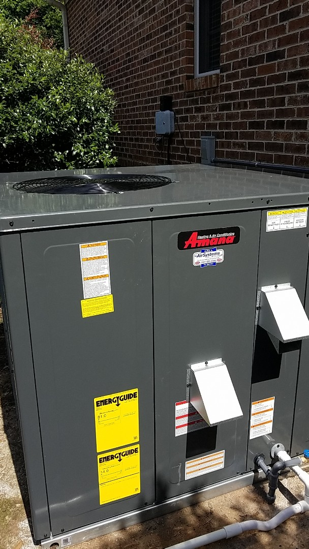 Ooltewah, TN - Installation call. Performed install of new Amana Gas AC system