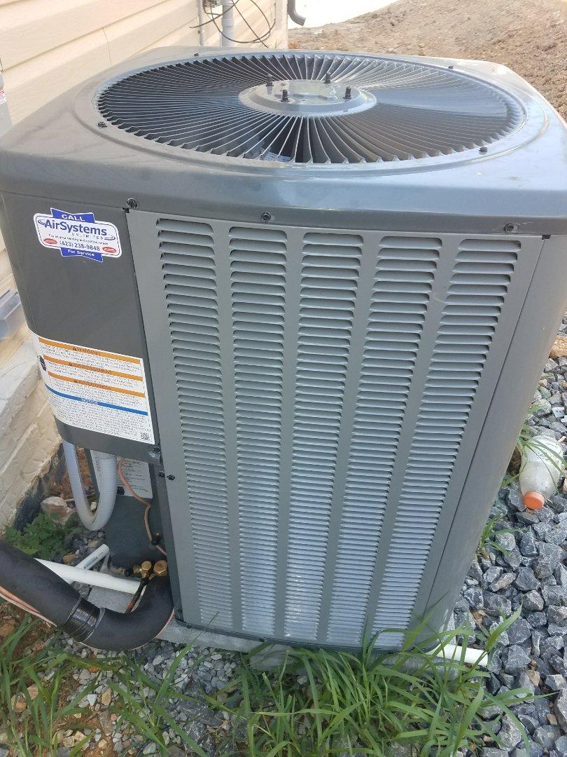 Cleveland, TN - Installation. Performed install on Amana heat pump.