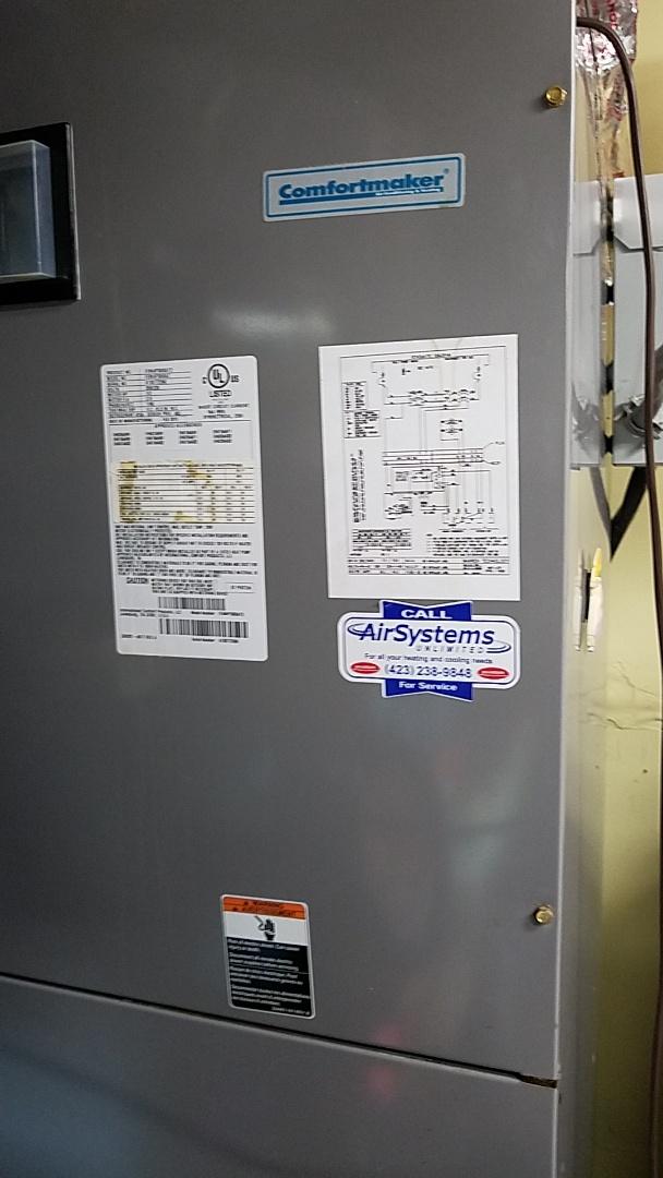Chattanooga, TN - Service call. Performed repair on Comfortmaker heat pump