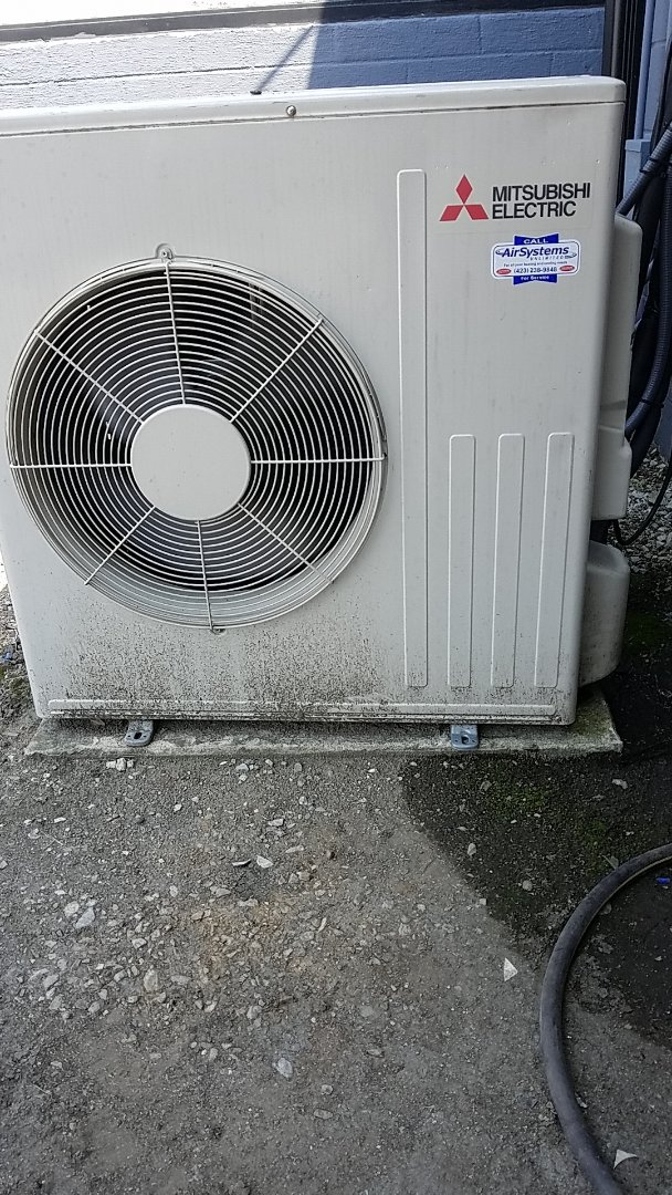 Chattanooga, TN - Service call. Performed repair on Mitsubishi ductless unit