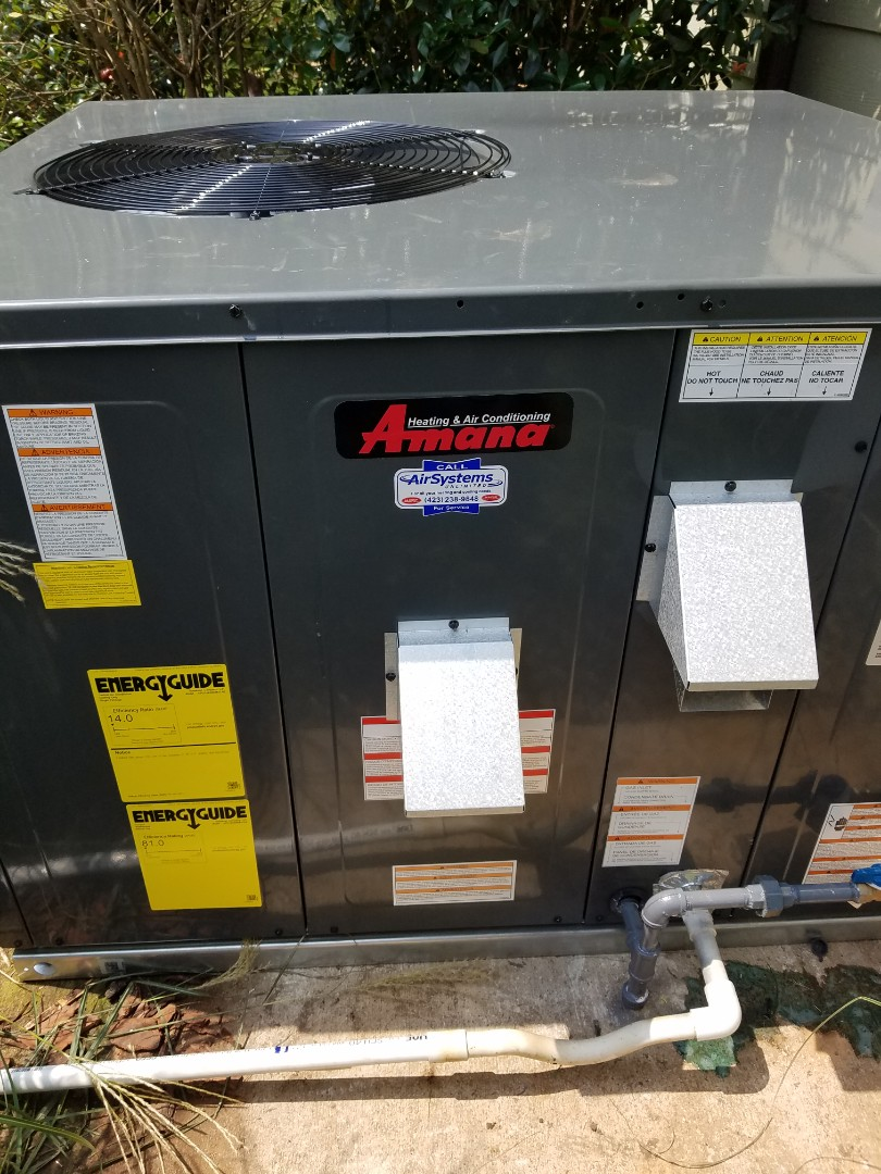 Ooltewah, TN - Installation call. Performed installation of Amana AC