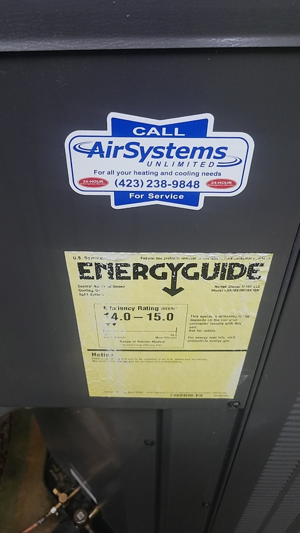Chattanooga, TN - Service call. Performed service on Maytag AC.