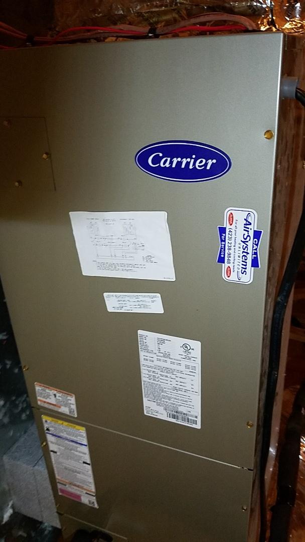 Ooltewah, TN - Service call. Performed repair on Carrier heat pump