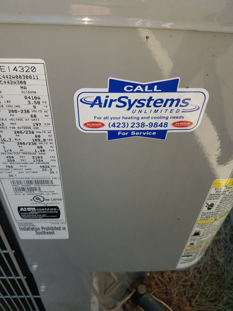 Ooltewah, TN - Service call. Performed service on Carrier AC