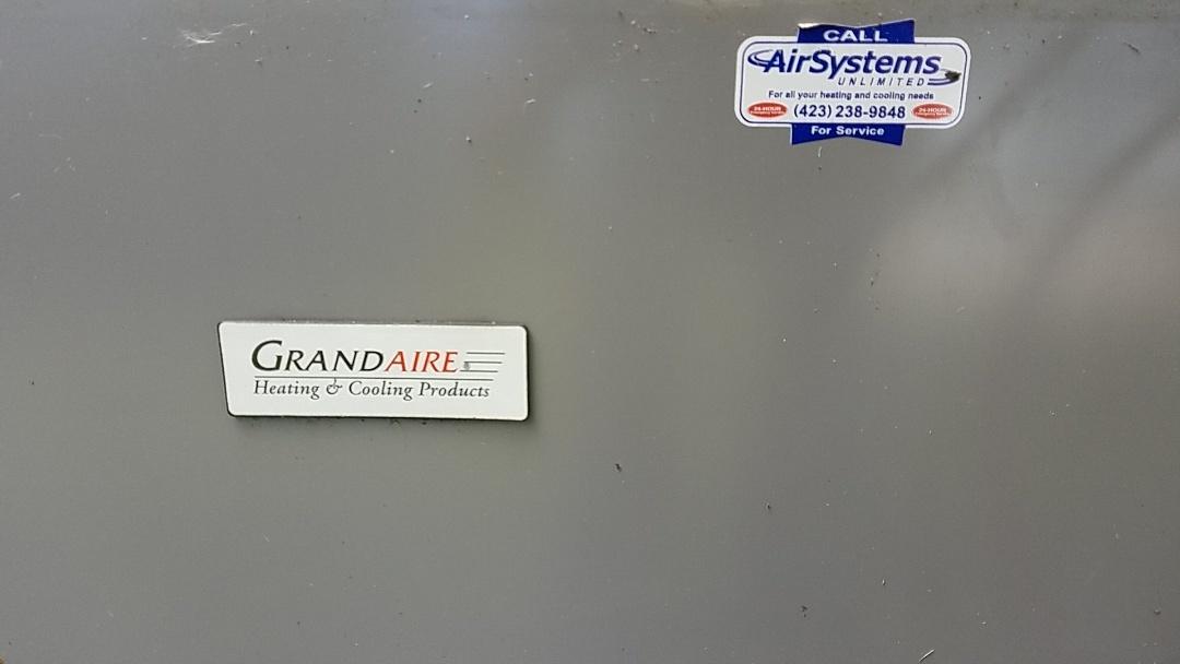 Ooltewah, TN - Service call. Performed repair on Grandaire heat pump