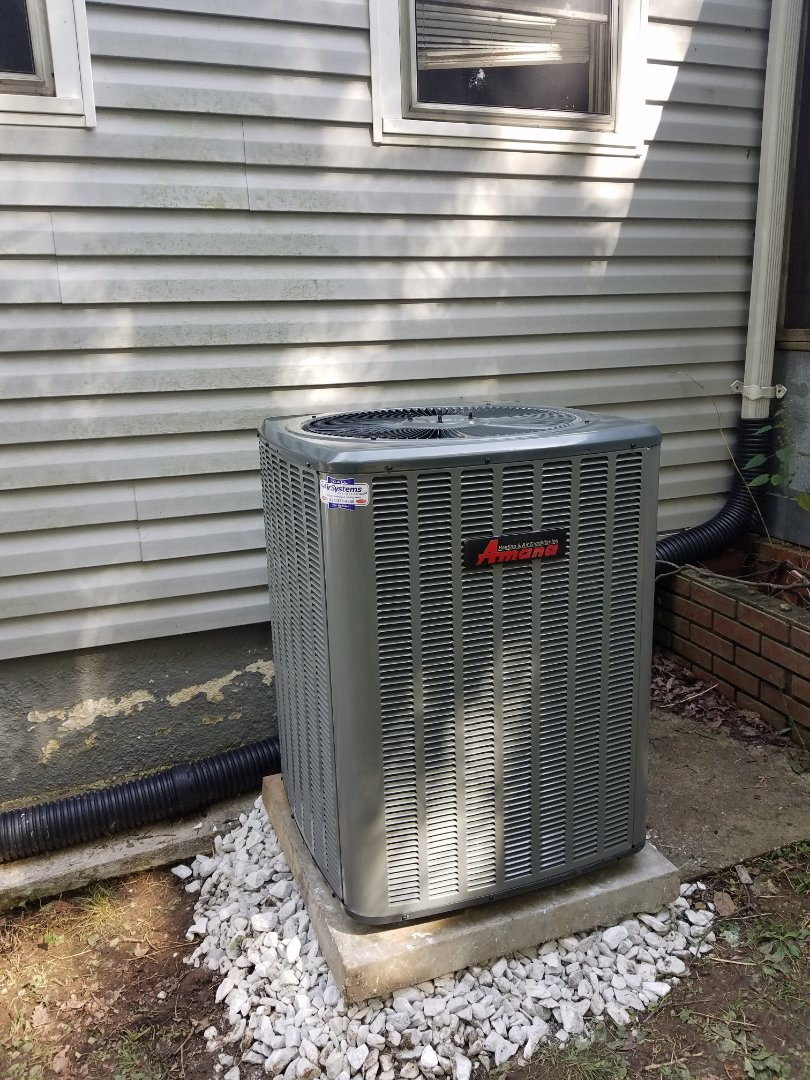 Chattanooga, TN - Install call. Performed installation of Amana heat pump.