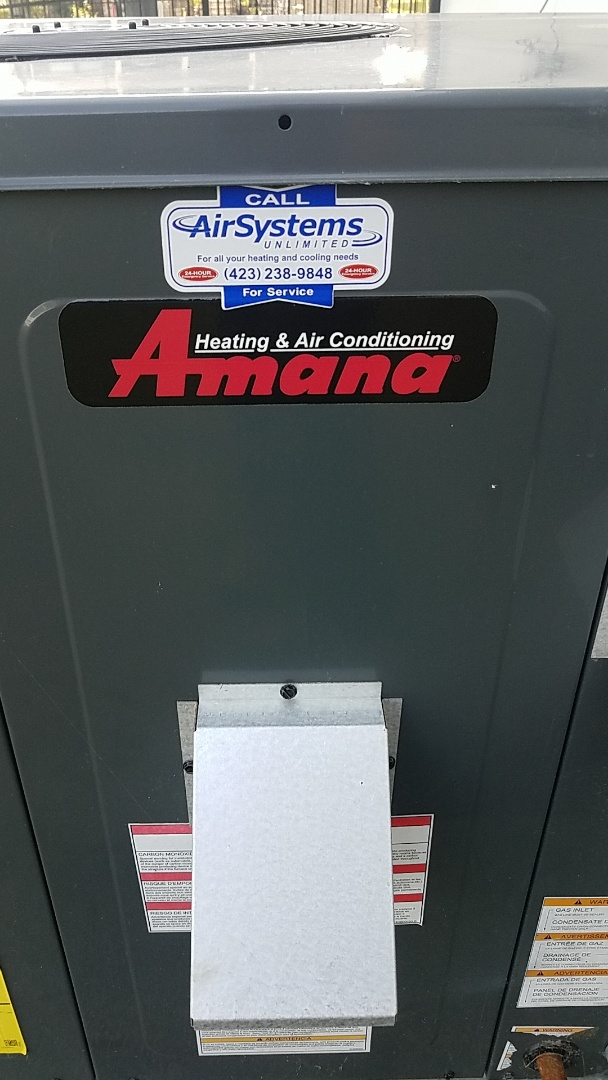 Cleveland, TN - Service call. Performed service on Amana Gas pack.
