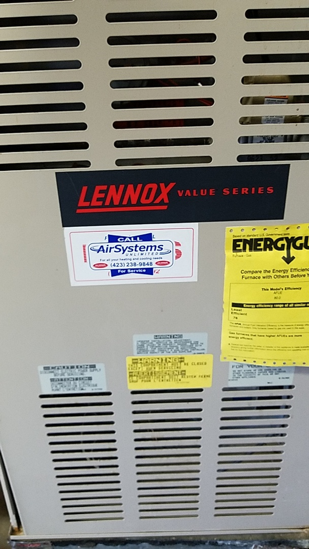 Cleveland, TN - Service call. Performed repair on Lennox furnace