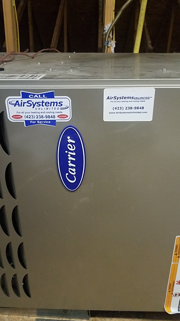 Collegedale, TN - Service call. Performed maintenance on two Carrier Furnaces.