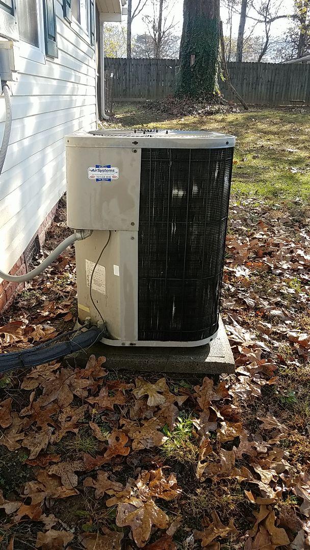McDonald, TN - Service call. Performed maintenance on GMC heat Pump.