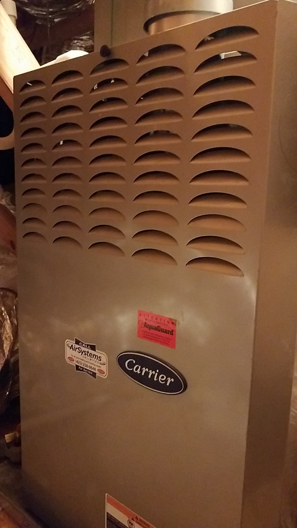 McDonald, TN - Service call. Performed maintenance on Carrier Furnace.