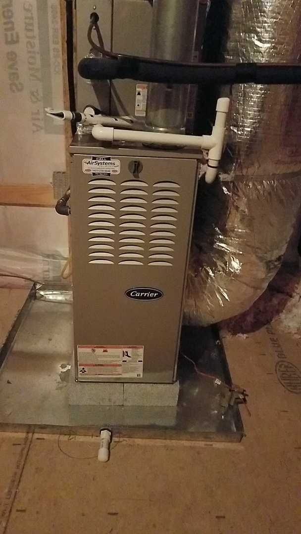 Chattanooga, TN - Service call. Performed maintenance on Carrier Furnace.