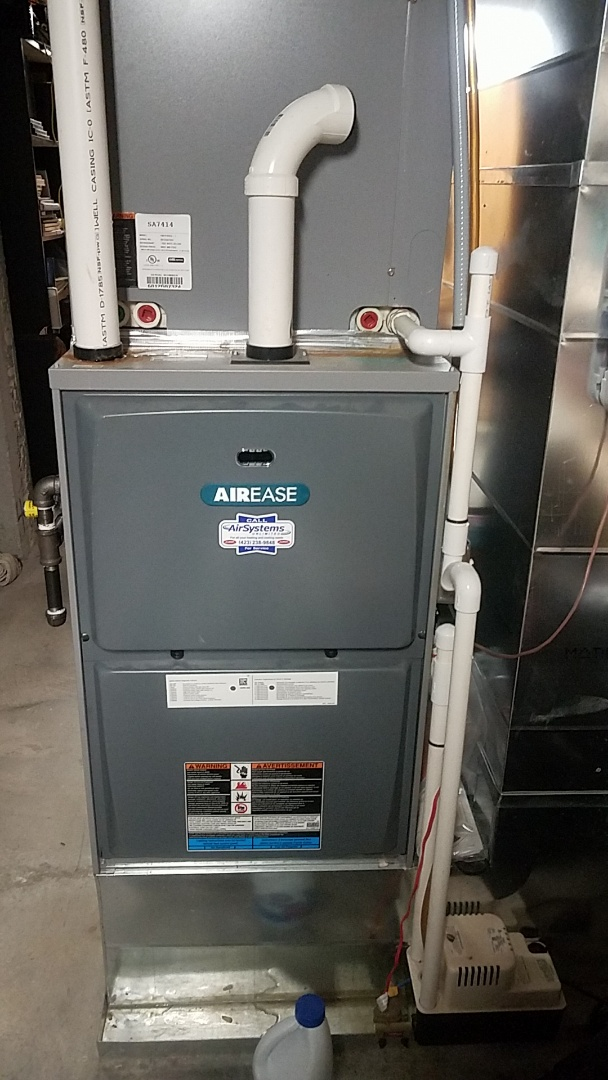 Cleveland, TN - Service call. Performed maintenance on Airease Furnace.