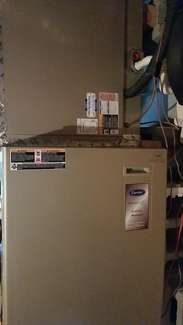 Ooltewah, TN - Maintenance call. Performed maintenance on Carrier furnace
