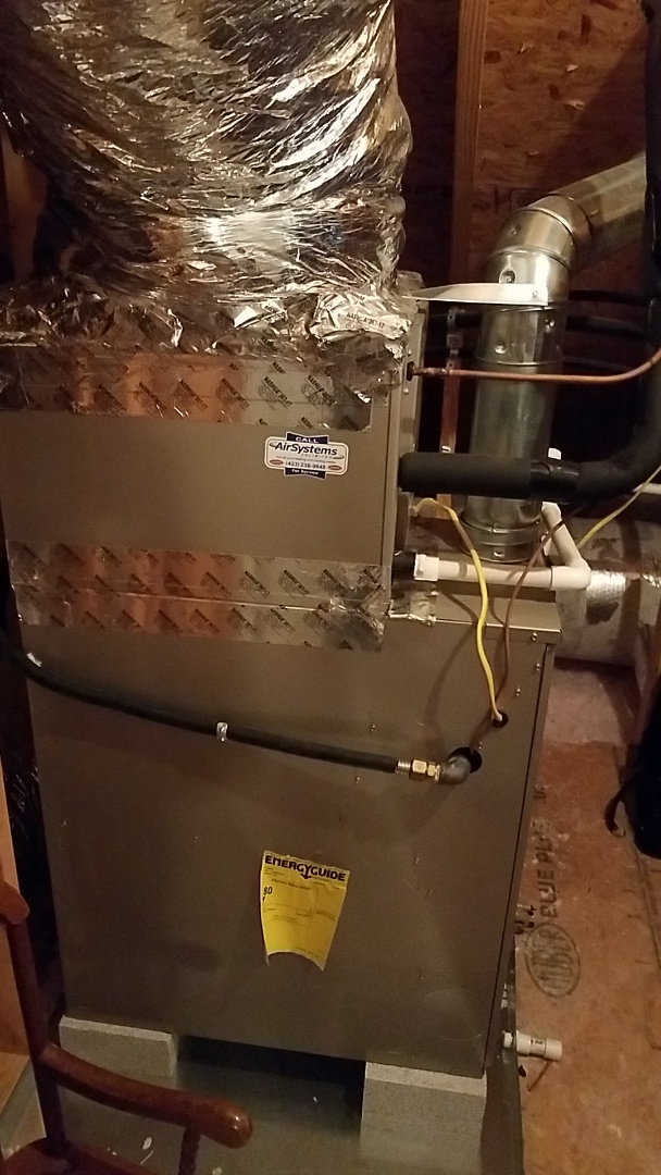Ooltewah, TN - Service call. Performed maintenance on Carrier Furnace.