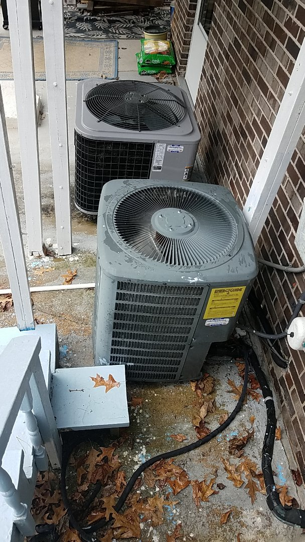 Chattanooga, TN - Service call. Performed maintenance on two Heat Pump systems.