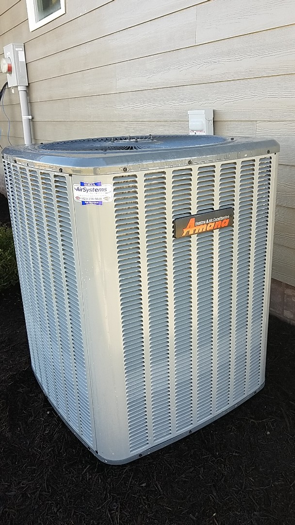 Harrison, TN - Installation call. Performed install of Amana heat pump