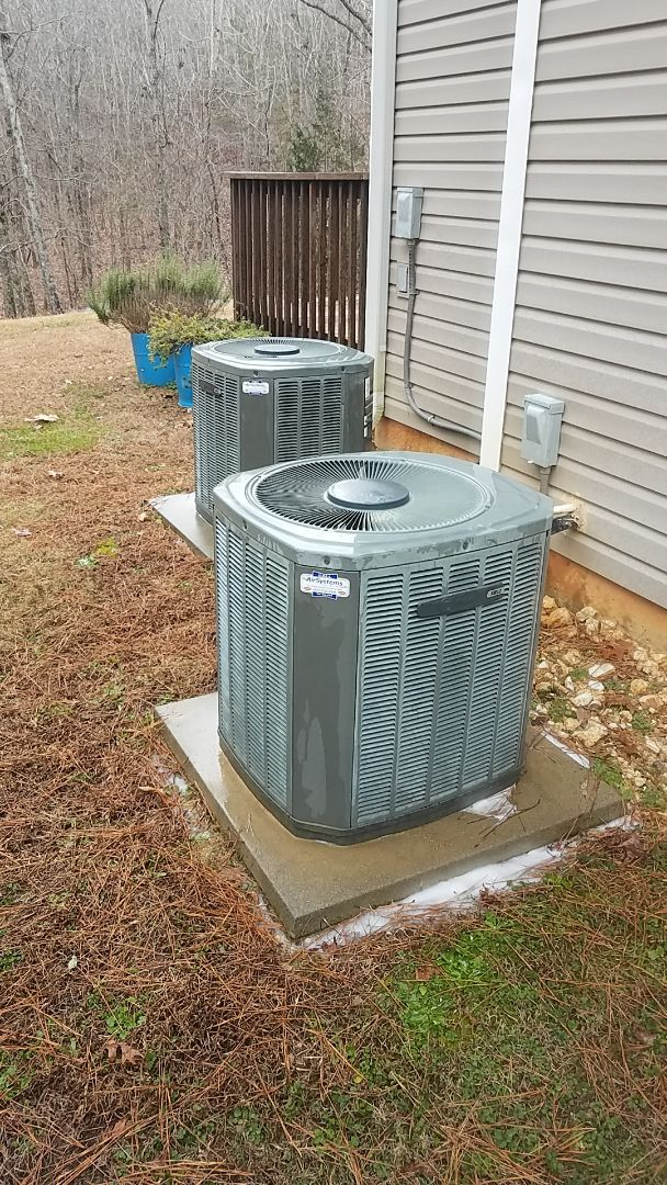 McDonald, TN - Service call. Performed maintenance on 2 Trane Heat Pump systems.