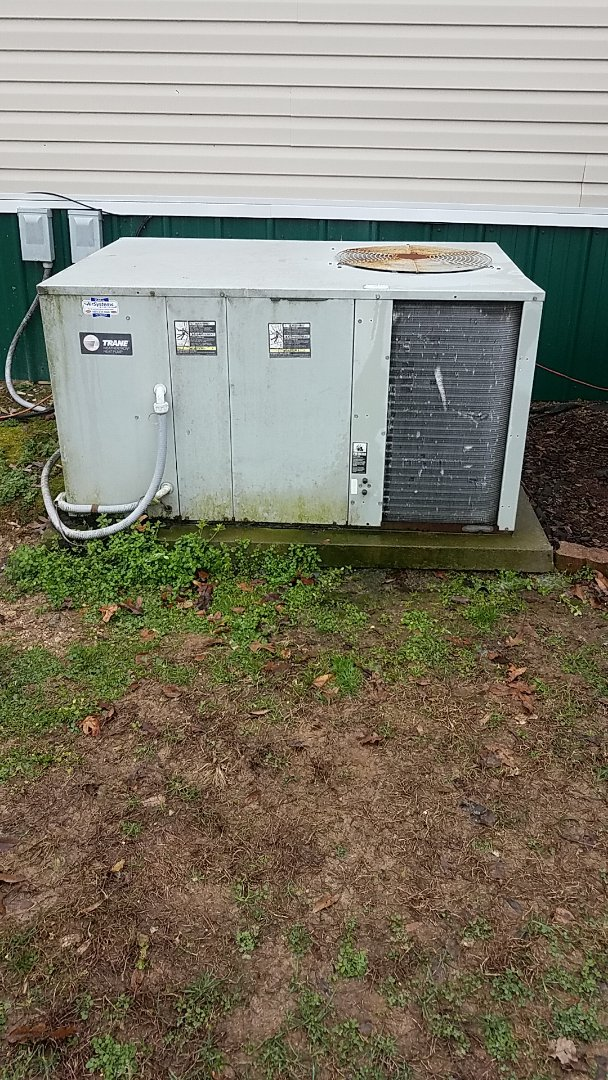 Cleveland, TN - Service call. Performed maintenance on a Trane Heat Pump system.
